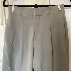 Zara High-Waisted Gray Trousers